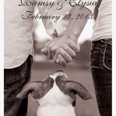 Our family save the date with kids instead of dog