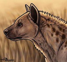 how to draw hyenas