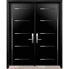 Modern Double Front Doors modern front entry doors - double entry door from thermoluxe