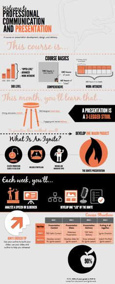 Awesome infographic on presentation class from Chiara and Alex.