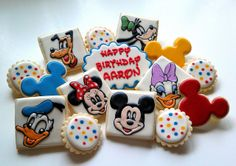 Mickey Mouse & Friends Cookies | Flickr - Photo Sharing! http://customcookiesbyjill.com/