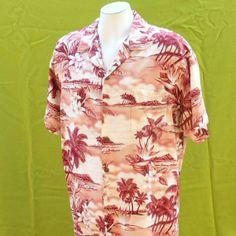 Mens Hawaiian shirt vintage 1970s beach by BornToShopVintage, $29.99