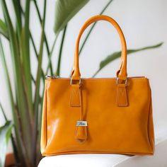 leather handbag floto roma satchel