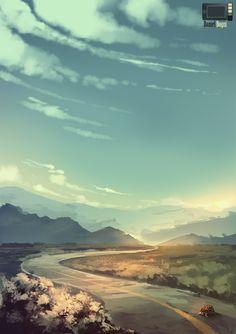 Speedpaint - The Road by danielbogni
