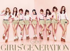 Girls' Generation, SNSD. One of the most popular idol girl group in Korea.  Many guys caught up.