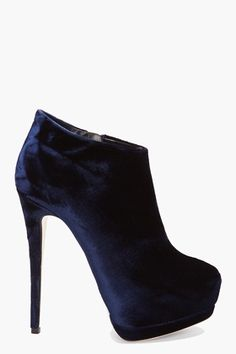 Giuseppe Zanotti Velvet Veronica Booties for women - StyleSays