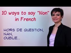 """10 ways to say no in French. And there is a lot of subtlety in saying """"non"""" - a lot of times, """"non"""" is not said, but implied. French Slang, French Phrases, French Words, French Expressions, French Language Learning, Language Lessons, Teaching French, How To Speak French, Libros"""