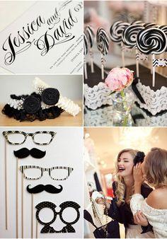 Black and White Wedding Theme Decoration Ideas 2014!