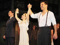 Michael Cerveris, Elena Roger and Ricky Martin of EVITA