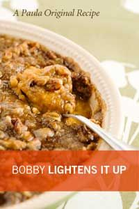 Ray made Paula's Sweet Potato Casserole last year for Thanksgiving at the house.  It was better than the pumpkin pies!  Paula Deen Bobby's Lighter Sweet Potato Bake