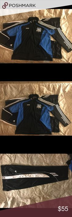 Like new Adidas Climacooled Sweatsuit. This item is in great condition, and you will look good wearing it! The Adidas Los Angeles Earthquakes Climalite Soccer Club Sweatsuit. ( The sweatsuit has one blemish on the right face less than a quarter of an inch large ) virtually unnoticeable adidas Other