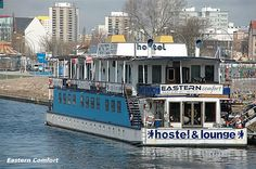 A hostel boat in East Berlin where I stayed.