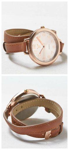 brown wrap watch