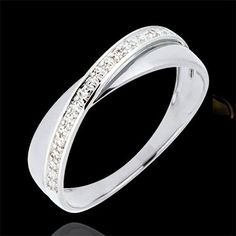 cadeau Alliance Saturne Duo - diamants - or blanc - 9 carats 180E