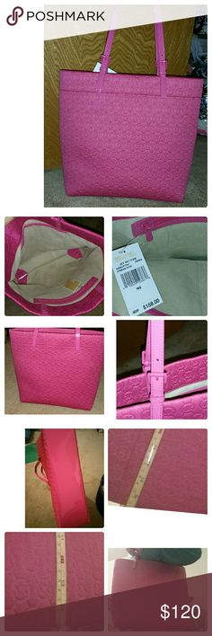 Michael kors tote New. With tags. Hot pink. Soft pliable neoprene. Details on last image. Great for a laptop and more!! Michael Kors Bags Totes