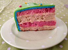 Porción del pastel peppa pig
