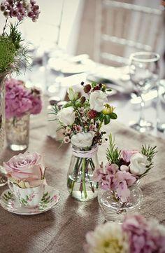 mis match vases