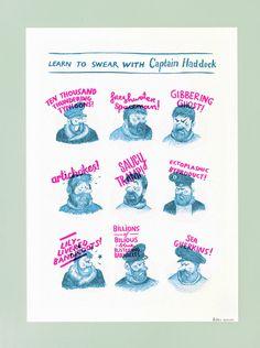 Captain Haddock Print