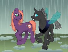MLP - Cotton 'n Greg in the rain by merrypaws on DeviantArt