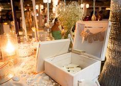Wish Table Decoration Summer Wedding in Greece.