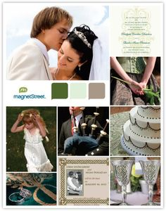 A brown color palette featuring wedding stationery, decor, and other ideas for your Celtic wedding theme. Wedding Music, Wedding Vows, Our Wedding, Dream Wedding, Scottish Wedding Traditions, Irish Traditions, Wedding Themes, Wedding Colors, Wedding Ideas