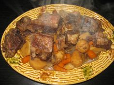 Slow Cooker Short Ribs  This recipe is easy, and delicious and only costs about 5 bucks per person.  It's one of Sandra Dee's  you will need:   3lbs of bone in short ribs  rosemary, thyme, and herbs de provence( i didn't measure i just did to taste) Sandra used a fresh bundle of rosemary,thyme   12 once dark beer ( I used a Porter, I also used 2 12 ounce beers instead of adding water your choice or you can use beef broth  6 medium Parsnips, a bunch of carrots, 5 carrots, 5 medium carrots…