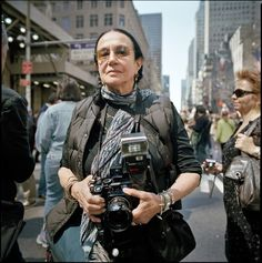 photograph by Mike Peters Mary Ellen Mark shoots with a Mamiya 7