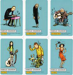 Jeu de 7 familles musicales. Emile Bravo. Guinguette Pirate - 2005.