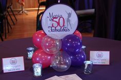 Pink & Purple Balloon Centerpiece