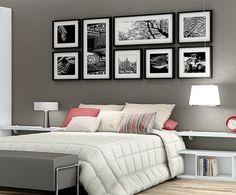 Composição de quadros na parede Ideias legais para fazer na sua casa 5