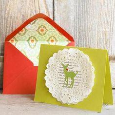 tarjetas de navidad hechas a mano para felicitar de forma original 6