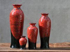 Wheel Thrown stoneware pottery Vase by AviorPottery on Etsy