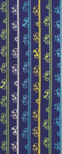 Japanese Tenugui Towel Cotton Fabric, Kawaii Bicycle, Bike Design, Hand Dyed…