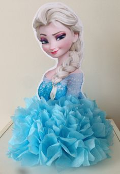 Ideias Festa Frozen - Como fazer Centro de Mesa