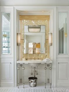Not like this picture but putting similar look - tile first and then adding a mirror