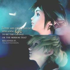 Kingdom Hearts Sora and Roxas