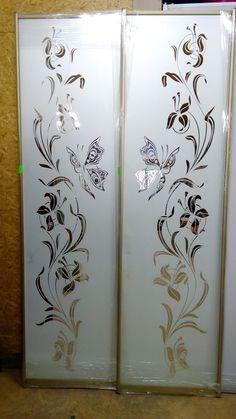Glass Partition Designs, Window Glass Design, Frosted Glass Design, Frosted Glass Door, Pooja Room Door Design, Door Design Interior, Main Door Design, Glass Painting Patterns, Glass Painting Designs