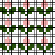Crochet For Beginners Flower Array Stitch Chart Tapestry Crochet Patterns, Fair Isle Knitting Patterns, Bead Loom Patterns, Knitting Charts, Knitting Stitches, Cross Stitch Borders, Simple Cross Stitch, Cross Stitch Designs, Cross Stitching
