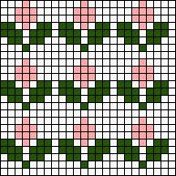 Crochet For Beginners Flower Array Stitch Chart Tapestry Crochet Patterns, Fair Isle Knitting Patterns, Knitting Charts, Loom Patterns, Knitting Stitches, Stitch Patterns, Simple Cross Stitch, Cross Stitch Borders, Cross Stitch Designs