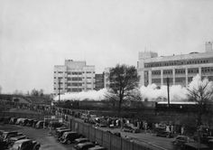King George VI's funeral train passing The Old Vinyl Factory in Hayes, West London in 1952.