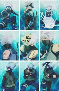 Kakashi (my crush with Naruto ) Naruto Shippuden, Naruto Kakashi, Sharingan Kakashi, Gaara, Anime Naruto, Anime Guys, Manga Anime, Kakashi Funny, Wallpapers Naruto