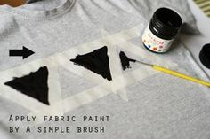 DIY Tshirt, would be cute on a sweatshirt....