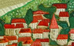 Art Quilt - Small Town  Meet Polish artists - BozenaWojtaszek by eloise