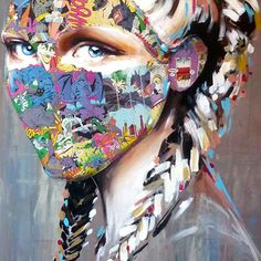 Her project Cages, an amalgam of fine art & street art deals with the society's twisted preconceptions of what women should or should not be Collage Portrait, Portraits, Sandra Chevrier, Comic Art, Comic Books, A Level Art, Sketchbooks, Pop Art, Art Projects