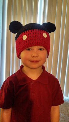 Butterfly's Creations: Mickey Mouse & Minnie Mouse Beanies. FREE pattern for all sizes!