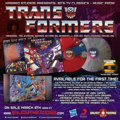 Transformers Original Television Series Score - On Sale Friday, March | Enjoy The Ride Records