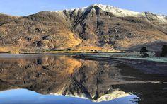 Liathach & Shieldaig Village, Northern Highlands, Scotland by Steve Carter