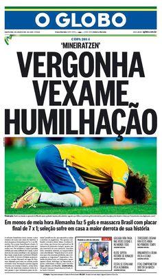 As capas dos jornais após o vexame da Seleção - Adnews - Movido pela Notícia