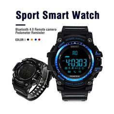 Zeepin Aiwatch XWATCH Sport Smart Watch Waterproof Pedometer Stopwatch Smartwatch Message Reminder Wristwatch for Android IOS Wearable Device, Wearable Technology, Sport Watches, Watches For Men, Men's Watches, Smartwatch, Best Sports Watch, Remote Camera, Android Watch