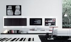 Jesse Open Wall Unit Composition , Wall storage systems, Go Modern Furniture Office Interior Design, Home Office Decor, Office Interiors, Interior Design Living Room, Living Room Designs, Interior Designing, Navy Living Rooms, Living Room Decor Cozy, Living Room Modern